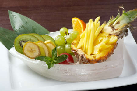 Salad whit tropical fruit and vegetables.chinese cuisine  photo