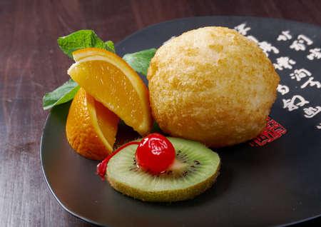 roasted icecream.chinese cuisine