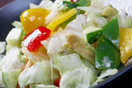Japan salad  vegetables   closeup photo