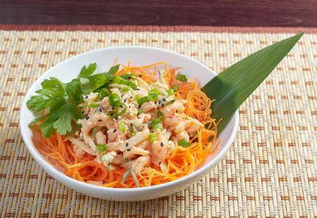 good cholesterol: chinese cuisine  salad of shrimp, mixed greens