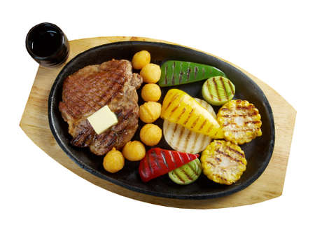 Japanese cuisine .Japanese pork Steak photo