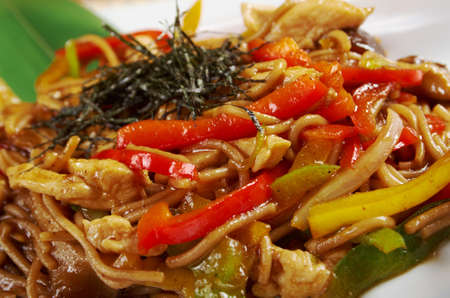 tendon: udon noodles with beef tendon stew.Japanese cuisine
