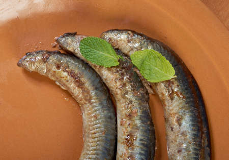 Grilled lamprey  close up Stock Photo - 17119443