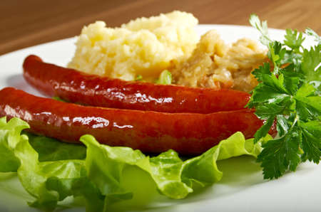 wiener sausages  with vegetable photo