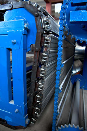 convey-er belt. industry track. conveyor belt.industrial machine photo