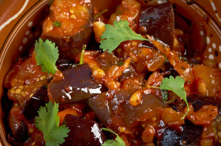 Sicilian Caponata with  pine nuts .farm-style Stock fotó - 23304220