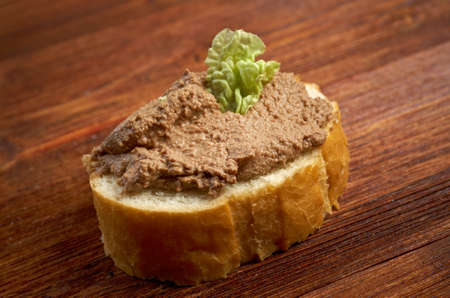 slice of bread with patб.farmhouse,home-style Stock Photo