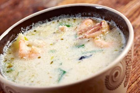 chowder: Seafood Chowder .country cuisine.farm-style