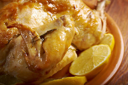 cooking ware: chicken and  lemon sauce.mediterranean cooking