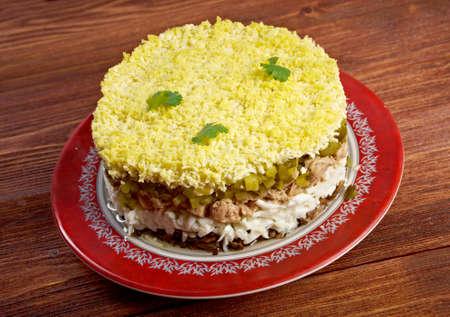 cod liver: Delicious Salad with Cod Liver