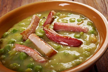 Erwtensoep pea soup - Traditional german cuisine dish photo