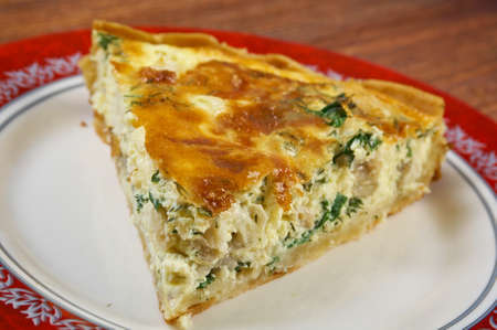 halibut: tasty homemade quiche with halibut