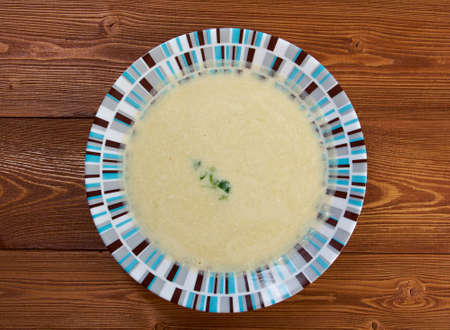 sopa: Vichyssoise, traditional french soup