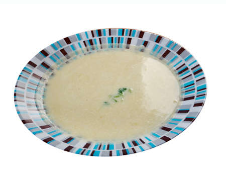 sopa: Vichyssoise, traditional french soup.tasty home made leek soup