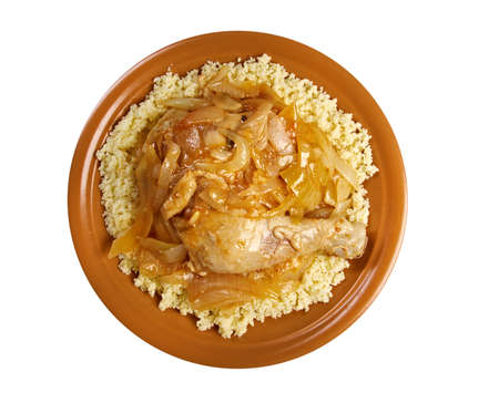 poulet yassa sénégalais geroosterde kippen Stockfoto