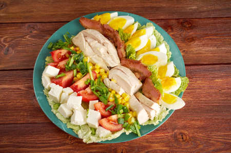 Cobb Salad - a main-dish American garden salad  photo