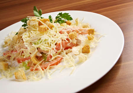 romaine: Romaine Salad Leaf and Croutons Dressed with Parmesan Cheese