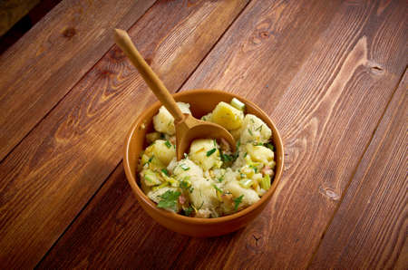 Kartoffelsalat - traditional German potato salad.farmhouse kitchen photo