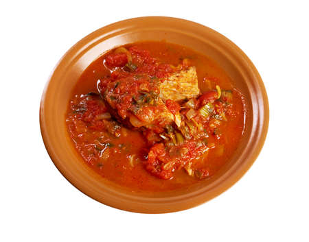 libysch: Hraime - libyschen vorbereiteten Fische. gebratene Meer�sche in Tomatensauce mit Gew�rzen Lizenzfreie Bilder