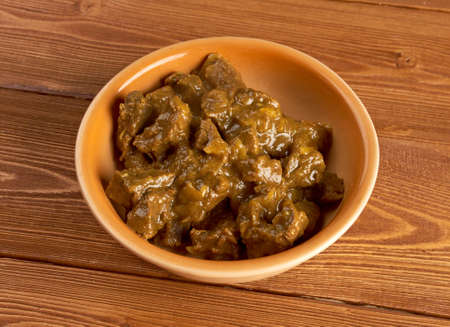 beef curry: Indian Beef Curry with with basmati rice  Stock Photo