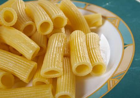 comida italiana: Comida italiana. Estilo Rigatoni.farm Pasta Foto de archivo