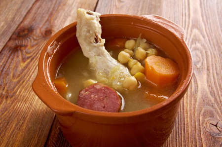 particularly: Cocido  Traditional dish in Spain. particularly in the central and northern regions of Spain Stock Photo