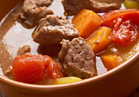 homestyle: Old fashioned beef stew .homemade American beef stew.country cuisine