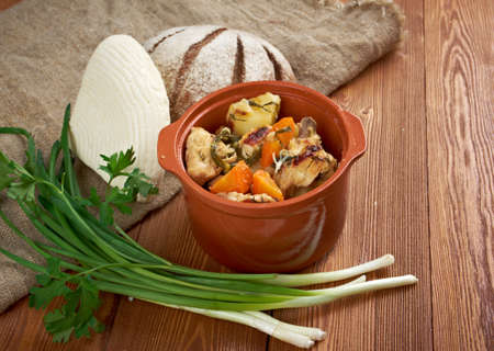 packer: Packer Country  chicken stew American traditional food. Stock Photo