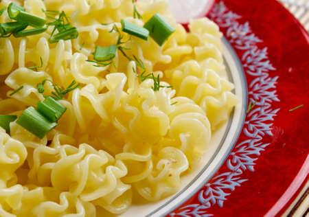 İtalyan mutfağı: Radiatori - Makarna İtalyan mutfağı Stok Fotoğraf