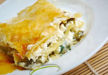 cottage cheese: Lasagna ricotta fatti in casa close up