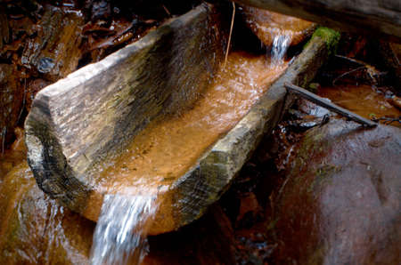 kurtyaevo Arkhangelsk region of Russia. Natural source of mineral curative water. photo