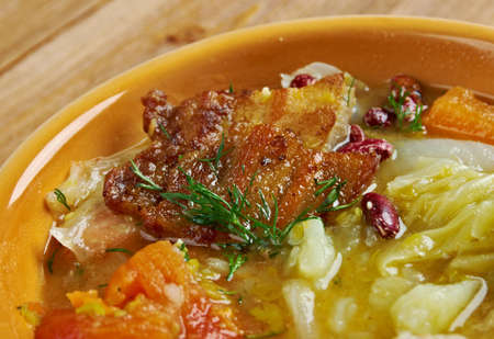 olla: Olla podrida -  Spanish stew made from pork and beans,