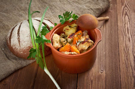 packer: Packer Country  chicken stew - American traditional food.farmhouse kitchen Stock Photo
