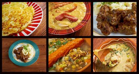 western european: Western European cuisine.Food set  Stock Photo