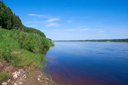 Pinyega River of Arkhangelsk Oblast in Russia. photo