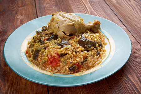 translates: Maqluba  is a traditional dish of the Arab Levant, Persia, and Palestine.dish includes meat, rice, and fried vegetables placed in a pot, which is then flipped upside down when served, hence the name maqluba, which translates literally as upside-down.