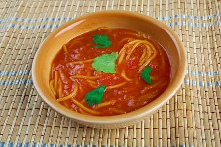 Algierski: Algerian tomato soup Chorba bil Matisha