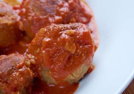 moroccan cuisine: Boulettes de poisson Moroccan cuisine - fishballs in  tomato sauce