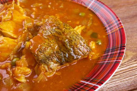 Kerala Fish Curry.south indian food photo