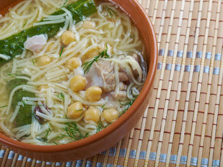 algerian: Algerian Rechta Maghreb chick chicken noodle soup