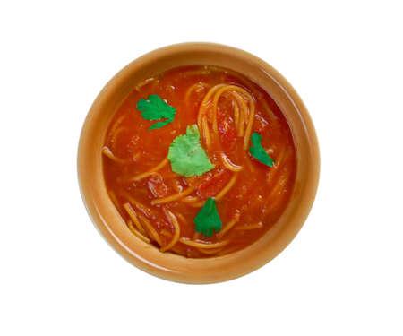 Algierski: Algierska zupa pomidorowa Chorba bil Matisha Zdjęcie Seryjne