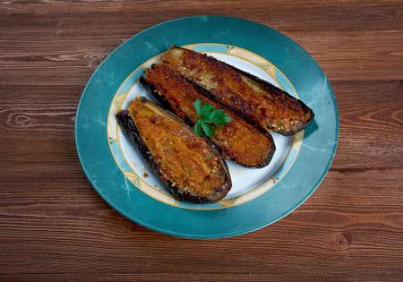 melanzane ripiene alla calabrese - eggplant stuffed in Calabria Stok Fotoğraf