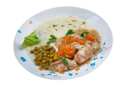 fricassee: calfs fricassee - Fricassee of Chicken with Vegetables Stock Photo