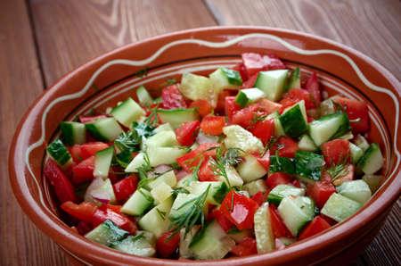 ensalada de verduras: Ensalada �rabe Foto de archivo