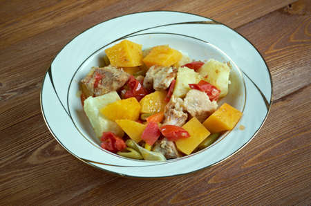 andalusian cuisine: Andalusian Gypsy Stew Stock Photo