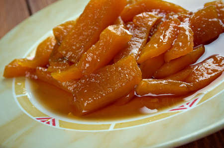 azucar: Calabaza con azucar moreno - Mexican dish of pumpkin and brown sugar
