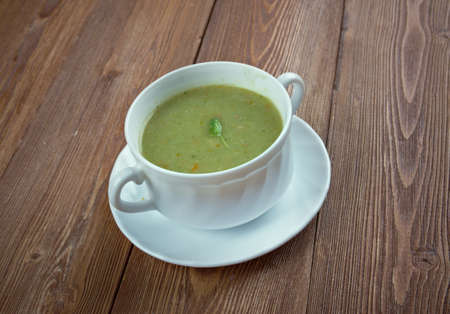 potage: Potage Puree St. Germain. water instead of stock makes this pure and light, but the complicated garnish
