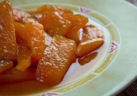 Calabaza con azucar moreno - Mexican dish of pumpkin and brown sugar