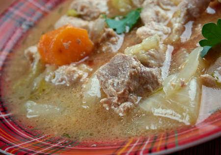 mishmash: Kentucky Burgoo Stew .slow-cooked mishmash of meats and vegetablesstew, Stock Photo
