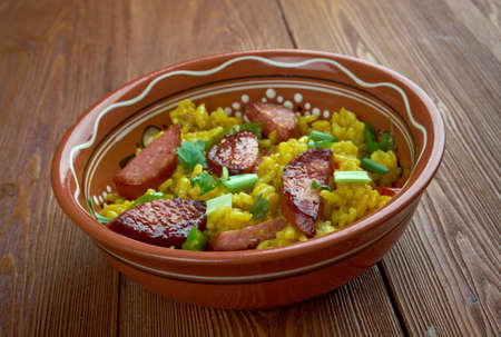 giblets: Dirty rice - traditional Creole dish made white rice which  chicken liver or giblets, green bell pepper.most common in the Creole regions of southern Louisiana
